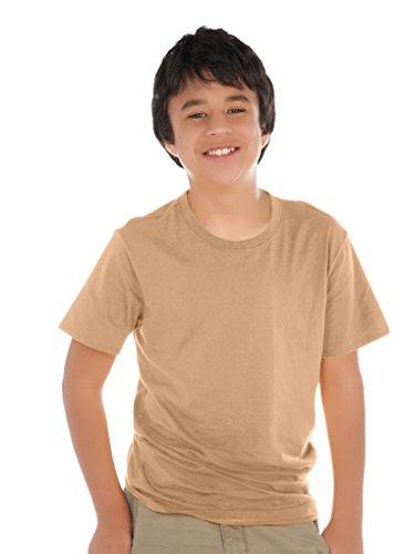 Kavio! Youth Crew Neck Short Sleeve Tee (Same YJP0495) Camel S