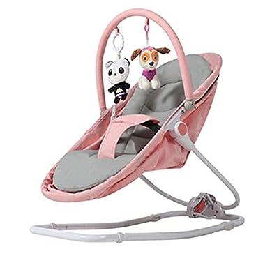VIVIANSHOP Nueva Silla de bebé bebé Cuna Silla coaxia bebé Cuna bebé Mecedora Silla Manual Mecedora Pink