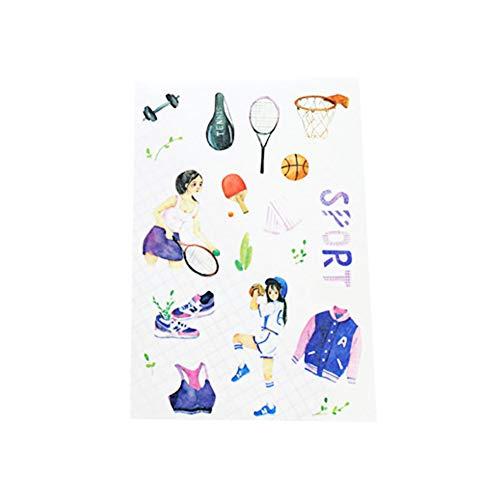 CAOLATOR 2 Blatt Sport Stil Aufkleber Sticker Mädchen Dekoration Sticker Süße Deko Spielzeug für sofortigen Foto Album Dekoration Fotoalben Verzieren