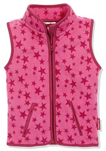 Playshoes Unisex Kinder Fleeceweste Allover Sterne, Pink, 80
