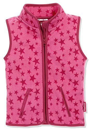 Playshoes Kinder Fleeceweste Allover Sterne Weste, Pink, 128