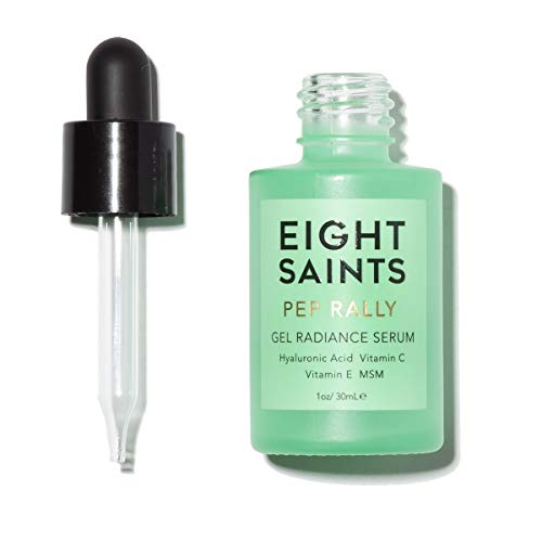 Eight Saints Pep Rally Gel Radiance Face Serum, Natural and Organic Hyaluronic Acid Serum For Face with Vitamin C and Vitamin E, 1 Ounce