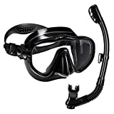 OMORC Snorkel Set for Kids & Adult,Anti-Fog Underwater Snorkel Mask with Impact Resistant