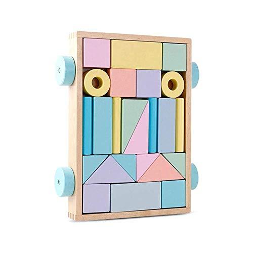 Carro de bloques de madera