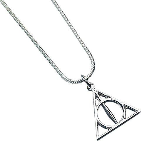 The Carat Shop Harry Potter Kette Heiligtümer des Todes Anhänger 40 cm Silber Ornament