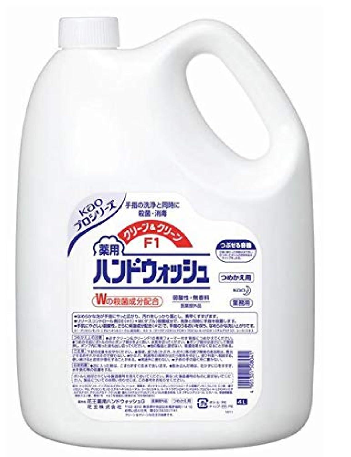 敏感なネブスラム街花王 クリーン&クリーンF1 薬用ハンドウォッシュ 4リットル 3缶セット