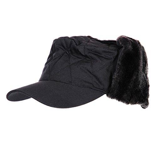 AlxShop - Casquette fourrée Thinsulate - Taille : 55 - Couleur : Black