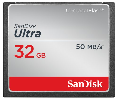SanDisk Ultra 32GB CompactFlash Memory Card Speed Up To 50MB/s, Frustration-Free Packaging- SDCFHS-032G-AFFP
