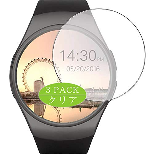Vaxson Pack of 3 Screen Protectors Compatible with Lenovo Smart Watch HW07, Screen Protector Bubble-Free [Not Tempered Glass]