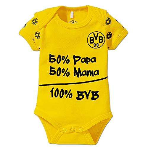 Borussia Dortmund Baby Body - 100% BVB - Kurzarm Bodie, Bodysuit div. Größen BVB 09 (L) Größe 74/80