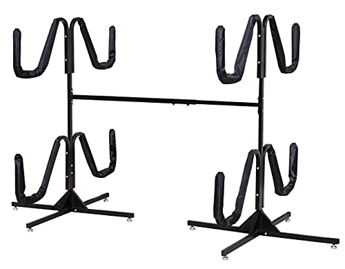 Insight Kayak Rack - Free Standing Heavy Duty Kayak Storage for Indoor/Outdoor (Holds 2 Kayaks)