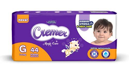 Fralda Cremer Disney, G, Mega, pacote de 44, Roxo