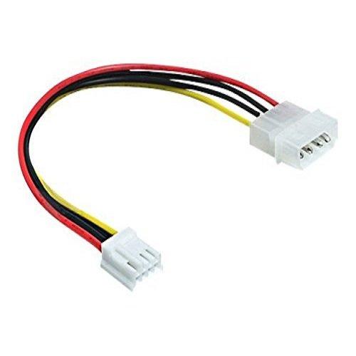 Delock 83184 Stromkabel (4-polig auf Floppy 4-polig, 24cm)