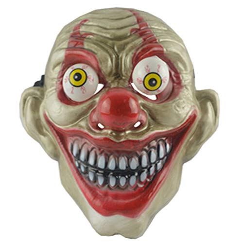 Amosfun Halloween Clown Maske Halloween Party Cosplay Grimasse Augapfel Kostüme Maske