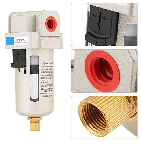 Filtro de agua, AF3000-03 G3/8 '' Compresor de aire comprimido Separador de agua de humedad en línea Filtro de partículas