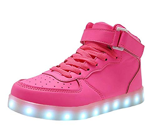 High Top LED Light Up Shoes USB Charging Sneakers For...