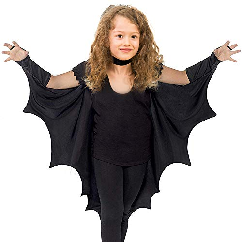 Skeleteen Bat Wings Costume Accessory - Black Wing Set Dress Up Accessories for Dragon, Vampire or Bat Costumes