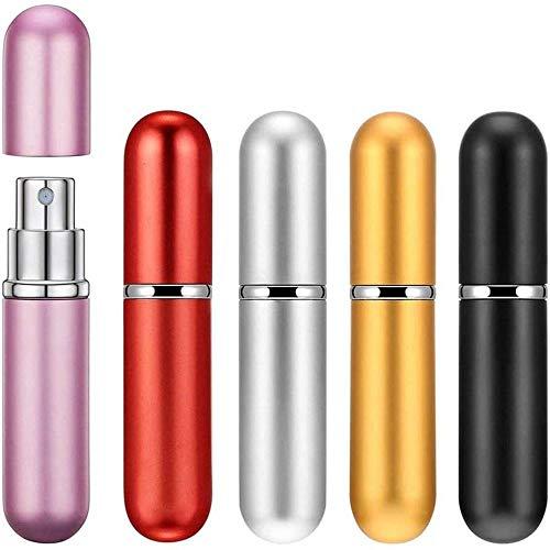 HeWan Bouteilles Vide de Voyage-Mini Bouteille de Parfum Portable, Bouteille de Parfum en Aluminium, Bouteille de Distribution de Parfum Portable