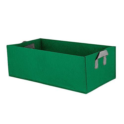 fancheng Square Aardbei Planting Tas, Stof Planter Tassen, Vilt-achtige Stof Tas, voor het planten, Bloeien, Tuinieren L(60*30*20cm) Groen