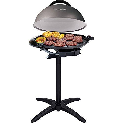 George Foreman 240' Nonstick Removable Stand Indoor/Outdoor Electric Grill