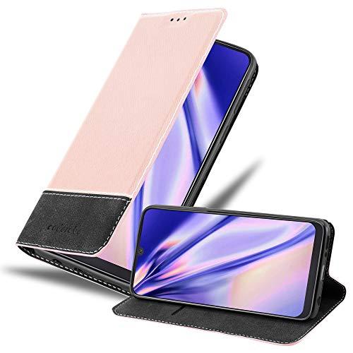 Cadorabo Funda Libro para Samsung Galaxy A50 en Rosa Oro Negro - Cubierta Proteccíon con Cierre Magnético, Tarjetero y Función de Suporte - Etui Case Cover Carcasa