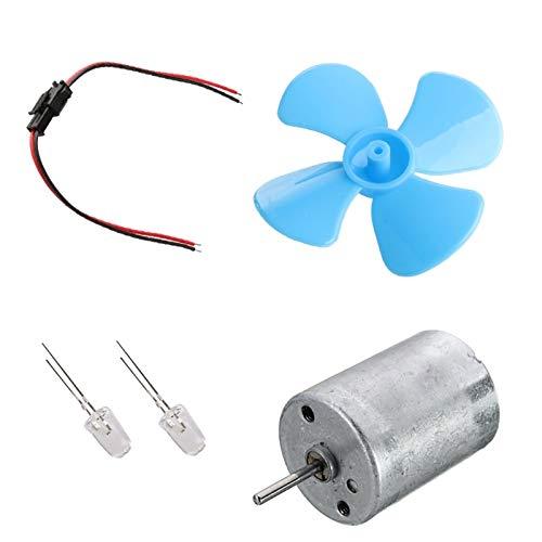 coldwind Pequeñas Turbinas Eólicas Generador Micromotor Turbinas Eólicas Generación De Ventiladores De Electricidad Modelo DIY Kit para Enseñar Experimento De Ciencias Físicas-Azul