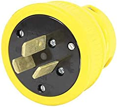 product image for (125/250VAC 50A) 3 Wire Industrial Flip Seal Straight Plug - KH INDUSTRIES P1050DF