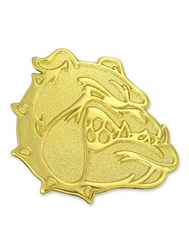 PinMart Gold Chenille Bulldog Mascot Letterman's Jacket Lapel Pin