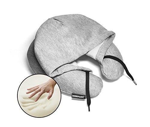 HoodiePillow Memory Foam Travel Pillows (Gray)