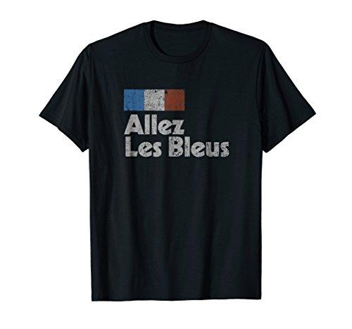 Retro France Soccer Shirt 2018 French Flag ALLEZ LES BLEUS
