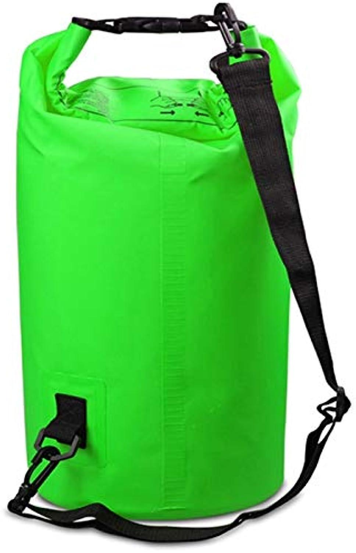 Linmatealliance Outdoor Bags Outdoor Bags Outdoor Waterproof Bag Dry Sack PVC Barrel Bag, Capacity  2L (Black) (color   Green)