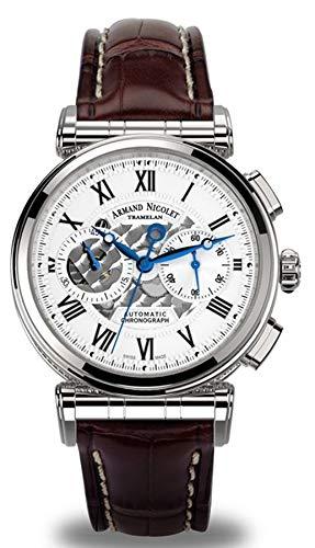 Reloj armand nicolet ar2 a424aaa-ag-p974mr2 cronógrafo automático Reloj para Hombre Analógico de...