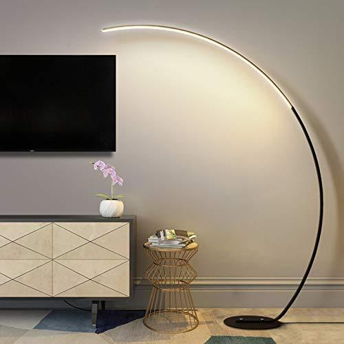 QTWW Stehlampe, Bogenlampe, LED 16W Standleuchte, Retro Creative Wohnzimmerleuchte, Standllampe mit Fußschalter, 170CM Bogenleuchte für Esstisch, Büro, Schlafzimmer, Warmweiß