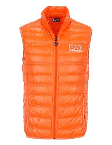 EA7 Emporio Armani 7 – Chaleco sin mangas para hombre, naranja, chaqueta de 100 g, talla M