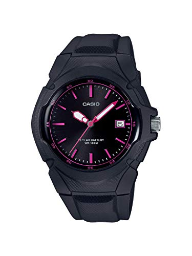 Casio Women's Sporty Stainless Steel Quartz Watch with Resin Strap, Black, 15 (Model: LX-610-1A2VCF)