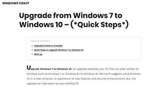 Upgrade from Windows 7 to Windows 10 – (*Quick Steps*): Windows Crazy