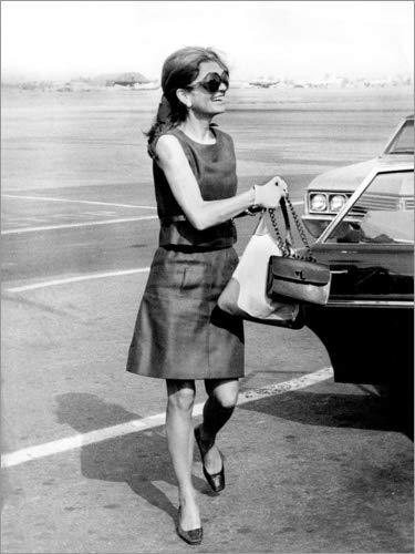 Posterlounge Leinwandbild 70 x 90 cm: Jackie Kennedy Onassis von Bridgeman Images - fertiges Wandbild, Bild auf Keilrahmen, Fertigbild auf echter Leinwand, Leinwanddruck