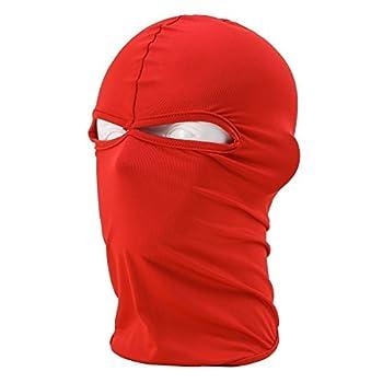 KINGOU Ultra Thin Red Ski Full Face Mask Under Bike / Football Helmet Balaclava 45 x 25 cm  L x W
