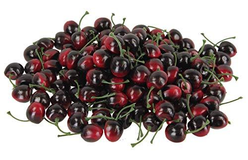 100 Stück rote Kirschen, künstliches Obst