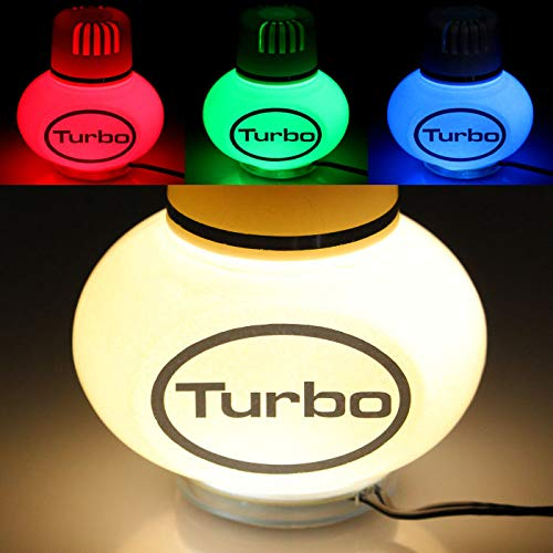 Turbo Lufterfrischer Jasmin mit Poppy 7 Farben LED Multicolor-Beleuchtung 12V 24V für LKW KFZ Auto Wohnwagen Inhalt 150 ml
