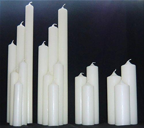 dakamilech Kerzenrohling für Taufe, Geburtstag, Hochzeit, Kommunion, RAL Kerze aus Ceresin zum Basteln und Verzieren (250 x 70 mm, Elfenbein)