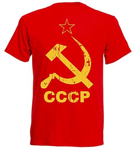 aprom CCCP - Maglietta da calcio con martello e falce sovjetuinon R NC7 Colore: rosso M