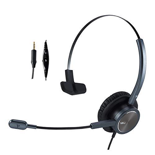 Plantronics - Auricular para teléfono celular con micrófono, cancelación de ruido, compatible con Apple iPhone, Samsung, Huawei, Xiaomi, HTC, ZTE BlackBerry LG y teléfonos inteligentes