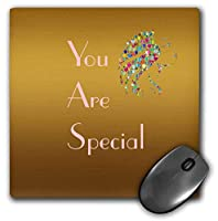 3dRose Mouse Pad Image of Words You are Special with Prism Ladies Head - 8 by 8-Inches (mp_291019_1) [並行輸入品]