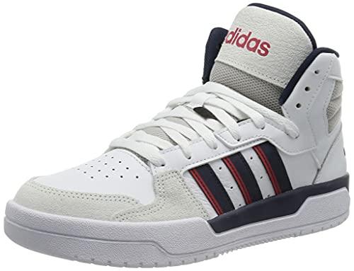 adidas ENTRAP Mid, Zapatillas de Baloncesto Hombre, FTWBLA/Maruni/Rojint, 45 1/3 EU