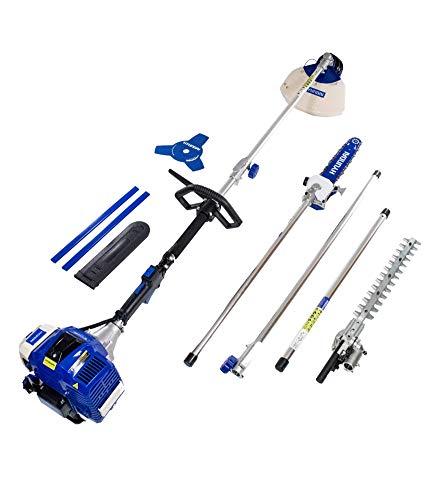 Hyundai HY-HYMT5080 Kit multifunción 4 en 1 jardinería, 1560 W, 0 V, Azul-blanco, 107x28x30 cm