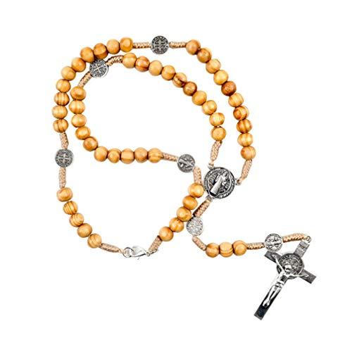 VOSAREA katholische Halskette mit Heiliger Benedikt Medaille katholischer Shop katholische religiöse Bekleidung für männer Frauen