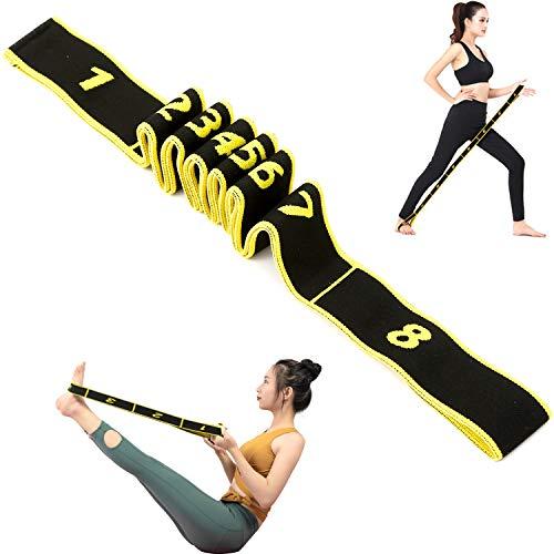 LONHCHI Yoga Cintura Attrezzature Fitness Yoga Tirare la Cinghia della Cinghia di Poliestere Elastico Lattice Danza Stretching Banda Loop Esercizio di Resistenza Belt 15-20 kg Yoga Cintura