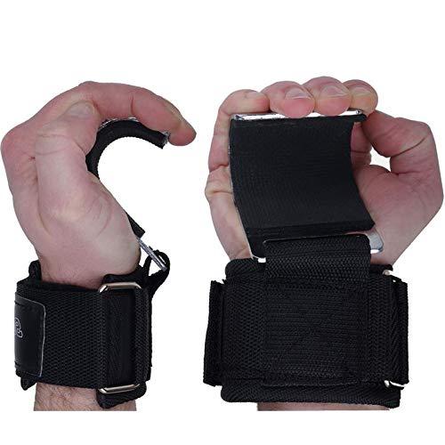 ScSPORTS 2X Klimmzughaken mit Klettverschluss, Stabiler Metallzughaken & Klimmzughilfe für sicheren Halt bei Klimmzügen