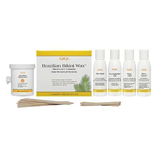 GiGi Brazilian Waxing Microwave Formula Kit - No Strips Needed